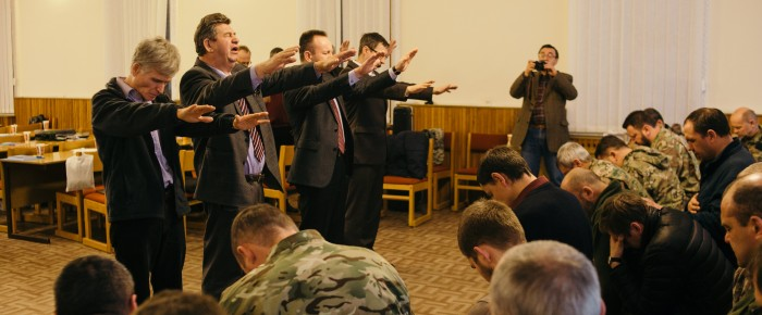 In Kyiv Theological Seminary 25-29 January 2016 held training military chaplains Ukrainian Union of Churches of Evangelical Christians – Baptists