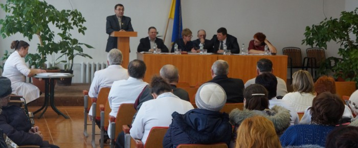 Hospital chaplains at the final annual meeting of the medical doctors Cherkasy region