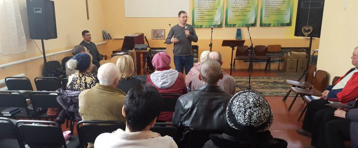 Leaders of «Olive Branch» visited a graduate student of chaplain program in Dobropillya, Donetsk region