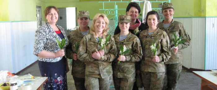Visit women-soldiers of Zhytomyr