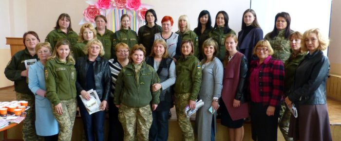 Easter meeting with military female in the Kherson city military point