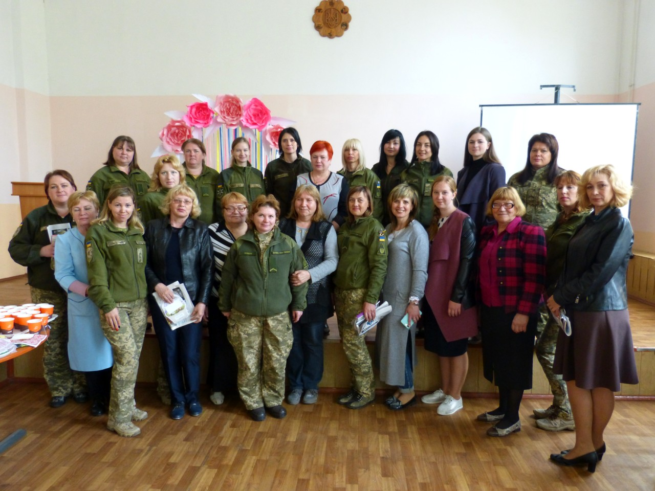 Easter meeting with military female in the Kherson city