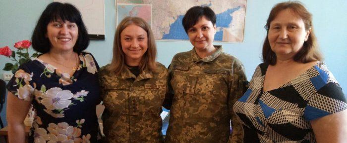 Женское служение ОГУ, встреча в воинской части в городе Васильков